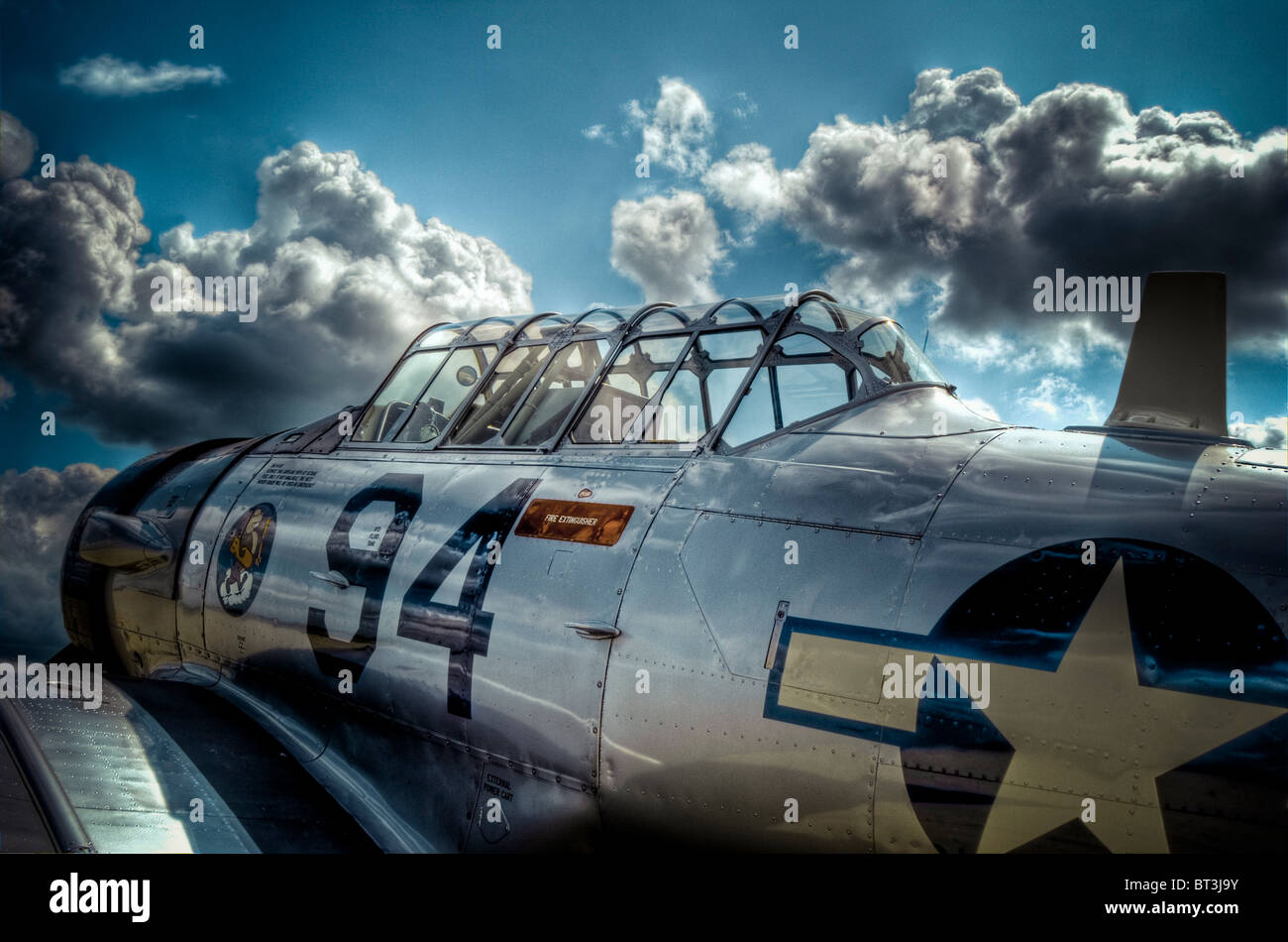AT-6 Texan aeroplane number 94 - Stock Image