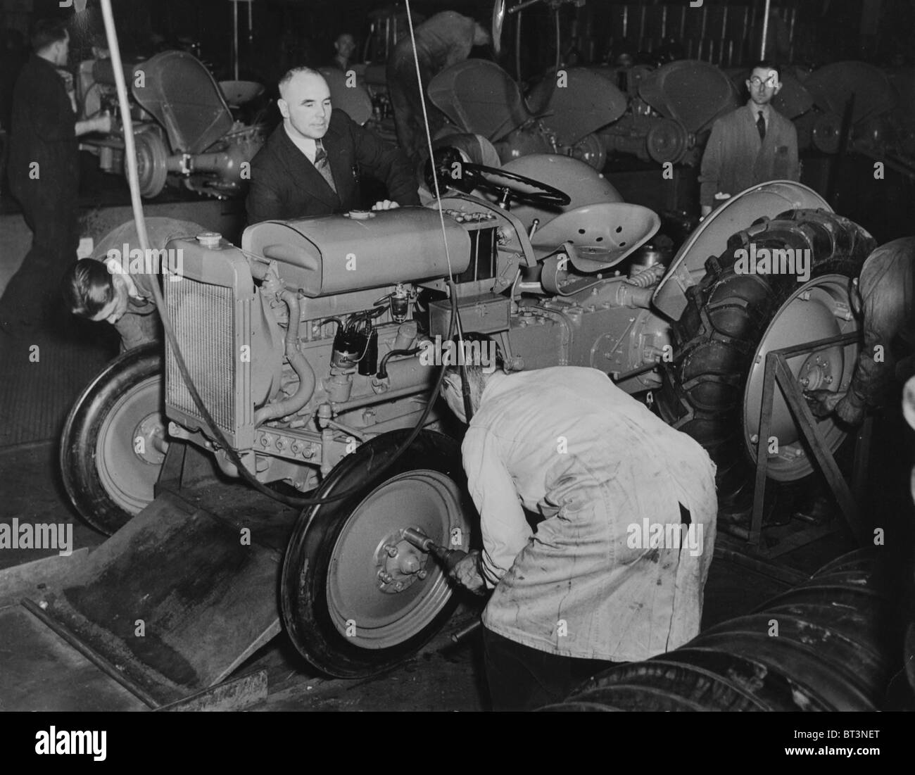 Tractors came off the production line of the Standard Car Works in Coventry  every two and