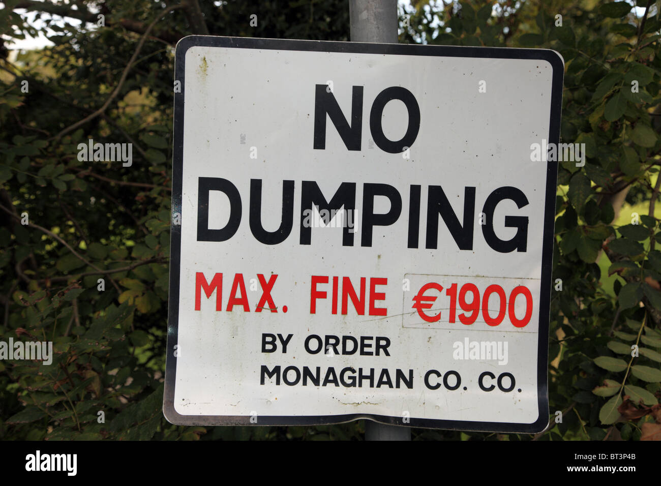 No Dumping sign, Co. Monaghan - Stock Image