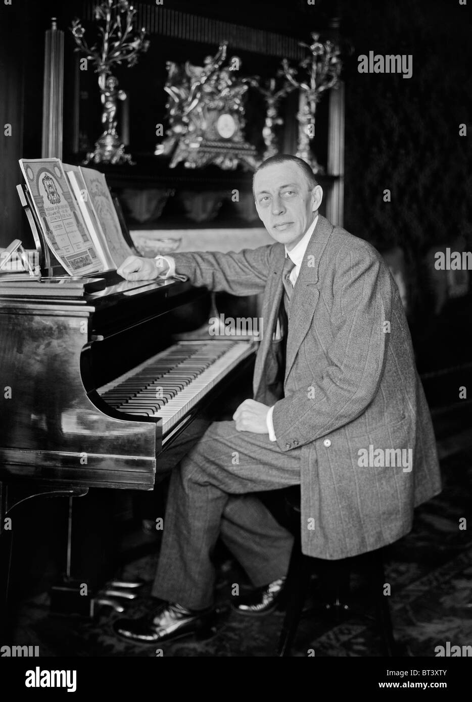 Vintage photo circa 1910s of Russian composer, pianist and conductor Sergei Rachmaninoff (1873 - 1943). - Stock Image