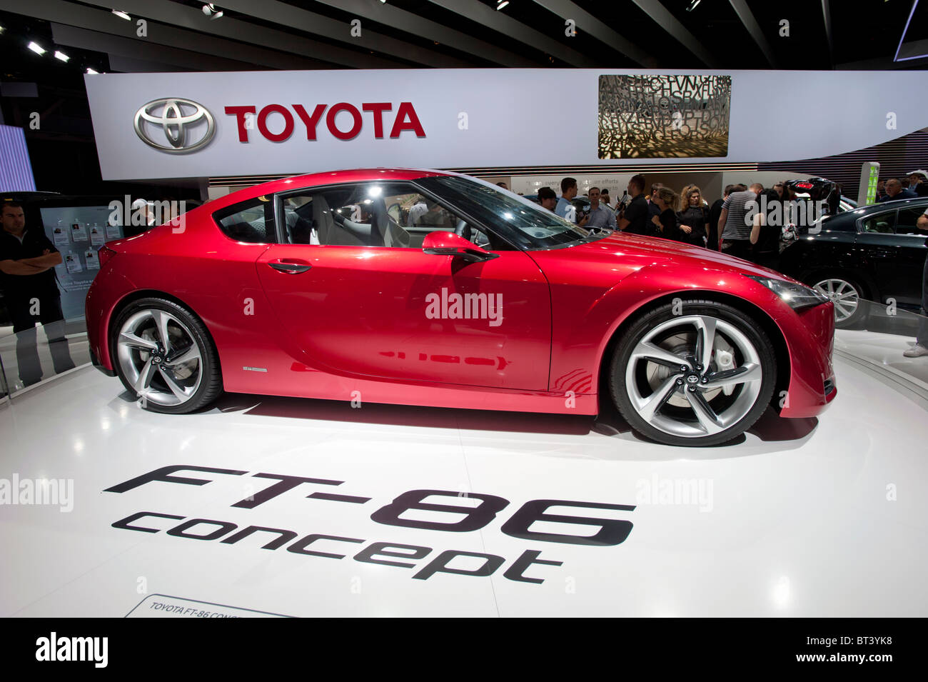 Toyota FT 86 Concept Car At Paris Motor Show 2010   Stock Image