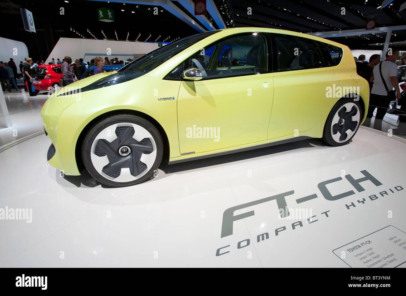 Toyota FT-CH hybrid car at Paris Motor Show 2010 - Stock Image