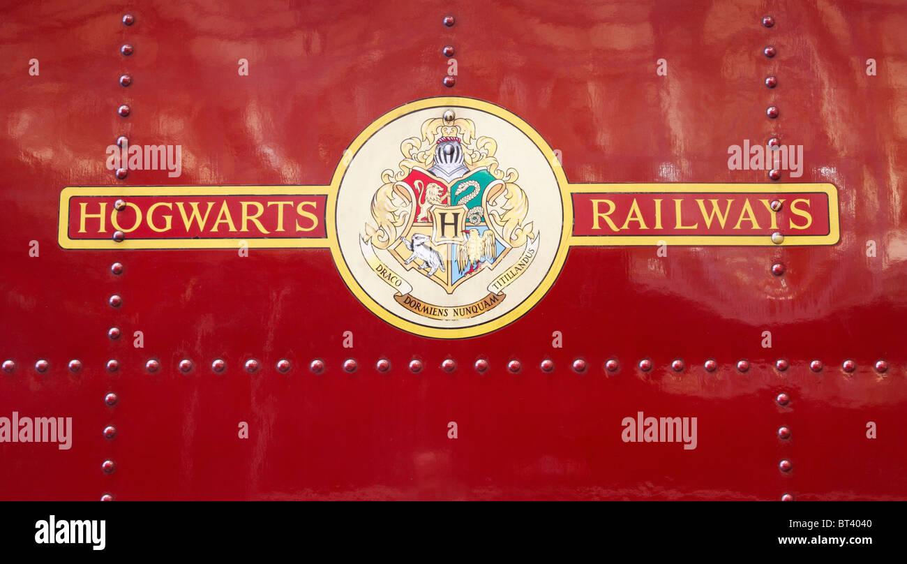 Hogwarts Castle steam train used in Harry Potter films - Stock Image