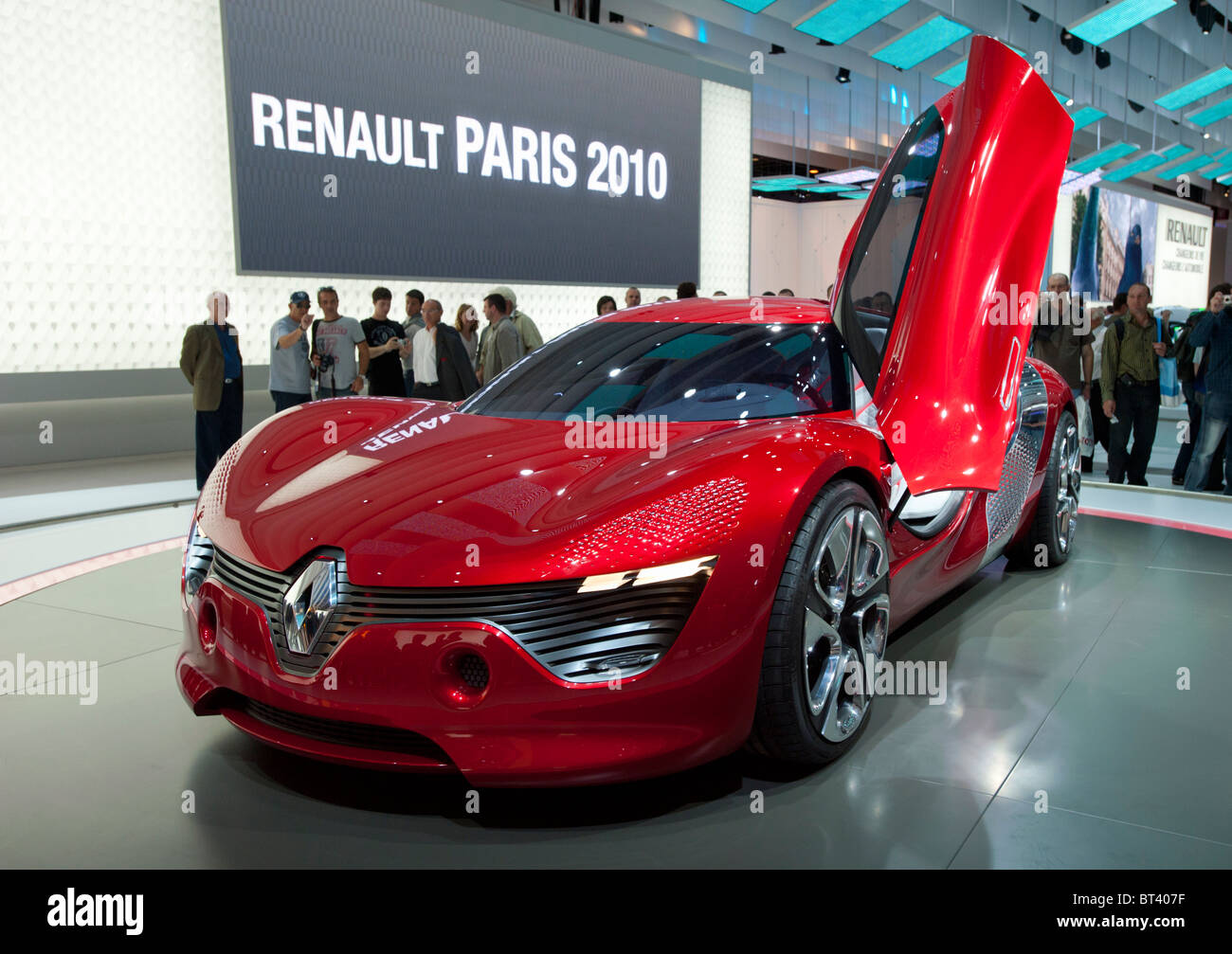 New electric concept Renault Dezir sports car on display at