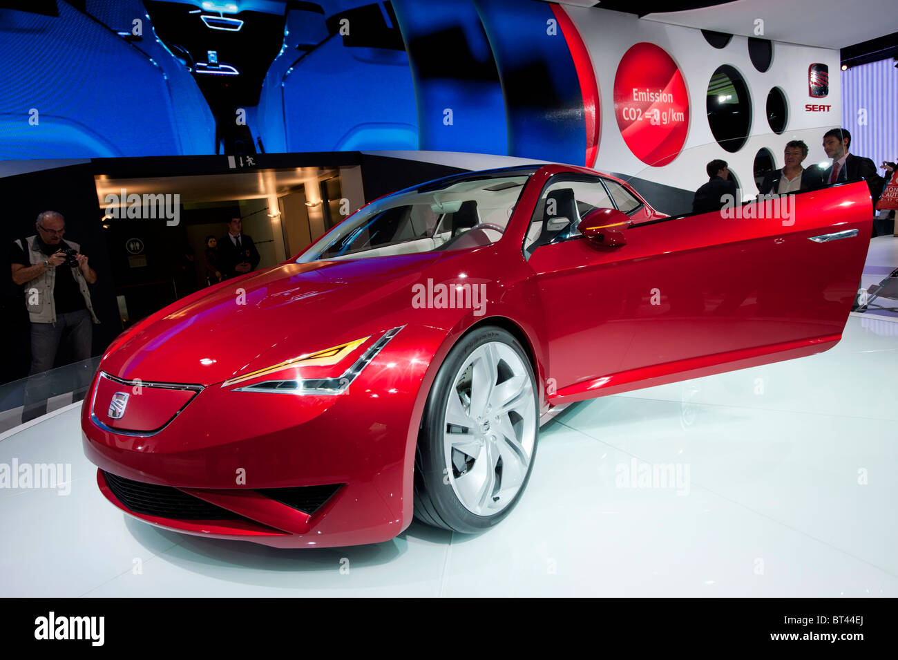 SEAT IBE concept electric car at Paris Motor Show 2010 - Stock Image