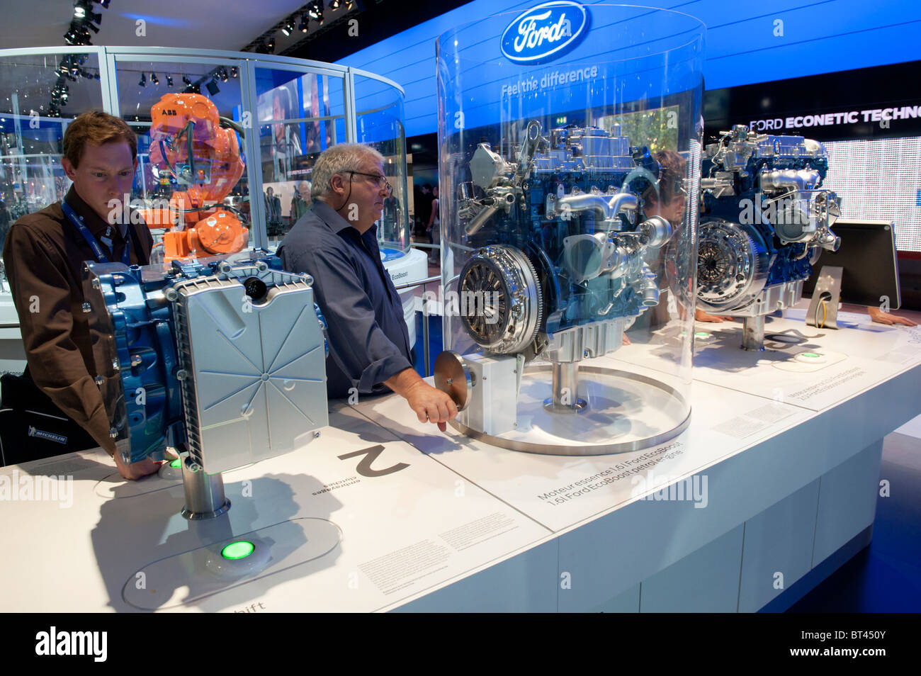 New Ford low emission engines on display at Paris Motor Show 2010 - Stock Image