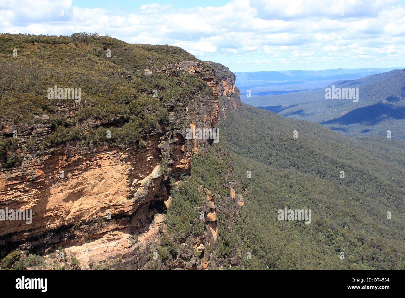 King's Tableland seen from Prince's Rock Lookout, Blue Mountains National Park, New South Wales, eastern - Stock Image