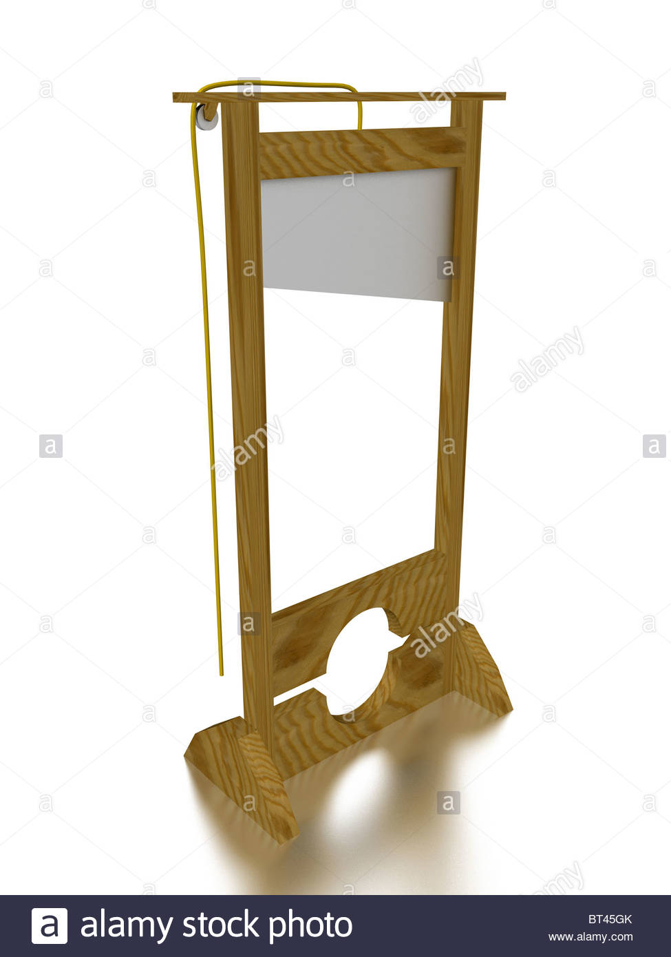 3d render of a Guillotine. Abstract concept Stock Photo: 32054307 ...