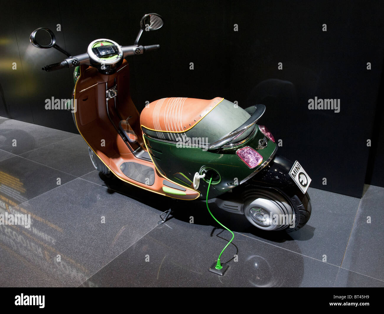 New Mini electric scooter on display at Paris Motor Show 2010 - Stock Image