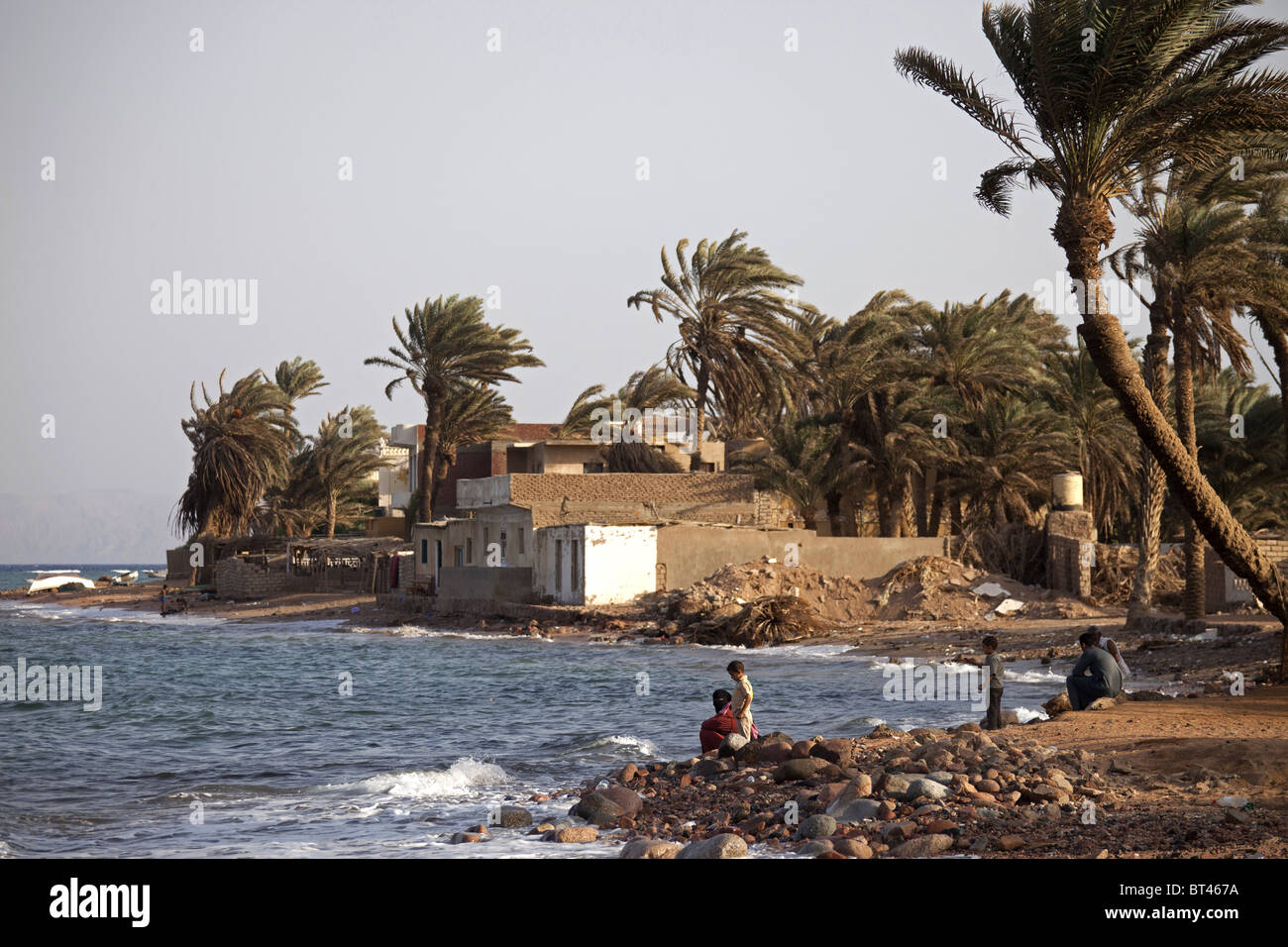 Bedouine at the beach in Dahab, Sinai, Egypt,  Africa - Stock Image