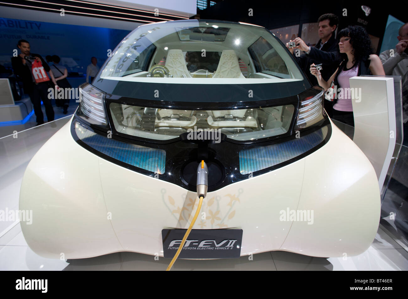 Future Toyota Electric Vehicle or FT-EVII at Paris Motor Show 2010 - Stock Image