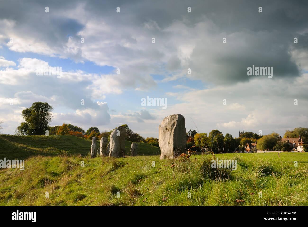 Avebury Stones Stock Photo