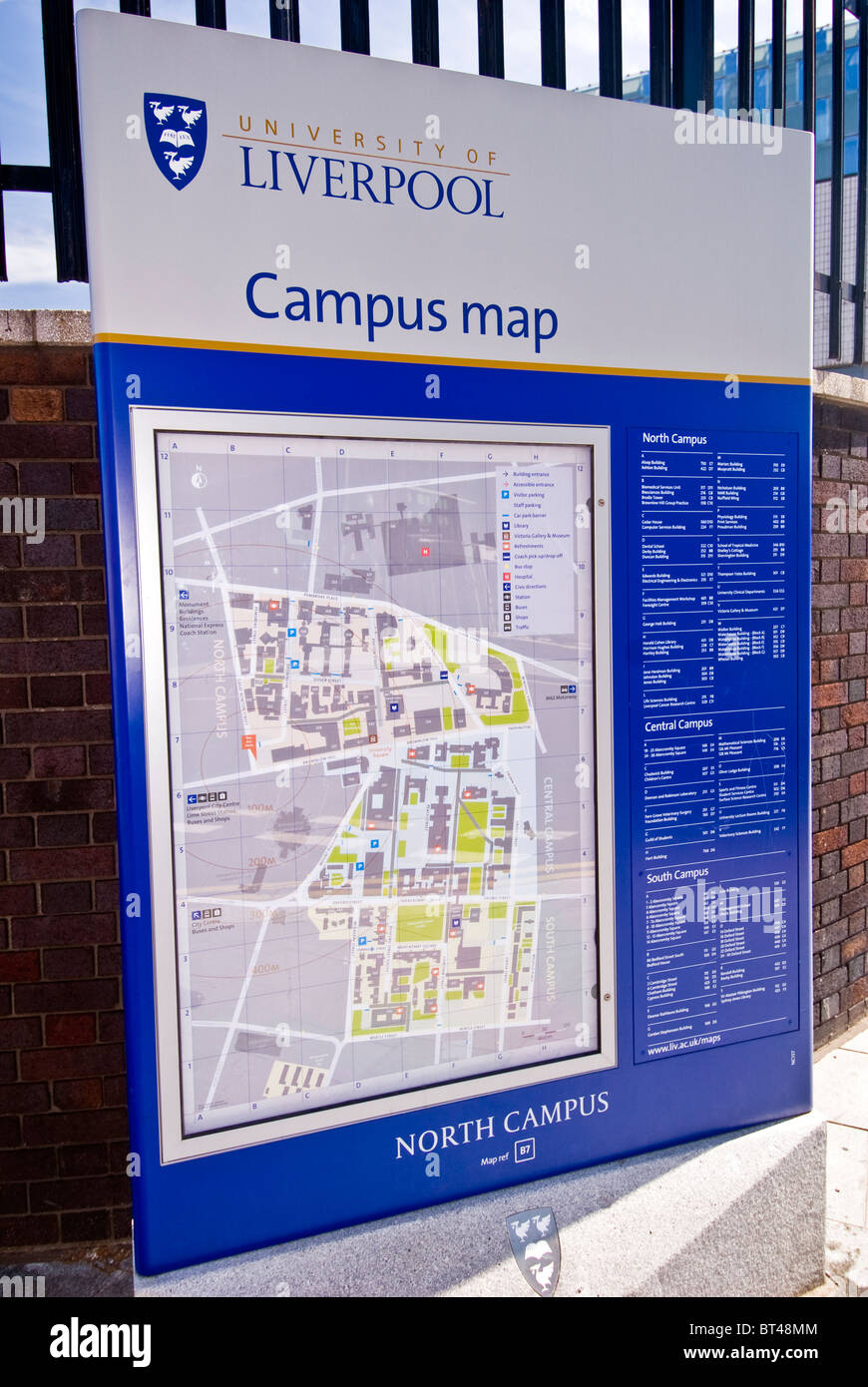 University Of Liverpool Campus Map Map of University of Liverpool campus, Liverpool, England, UK