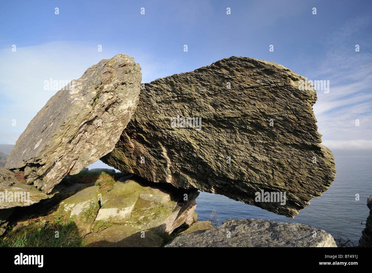 Balanced Devonian Limestone Rock on top of Castle Rock fa5a045d5c778