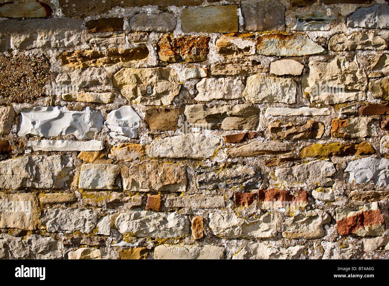 Natural stone wall - Stock Image