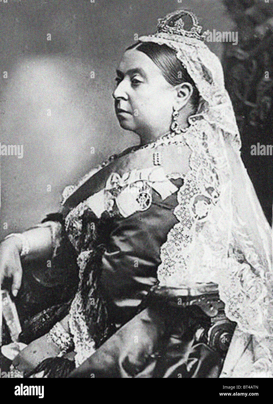 Queen Victoria in a Golden Jubilee portrait. From the archives of Press Portrait Service (formerly Press Portrait - Stock Image