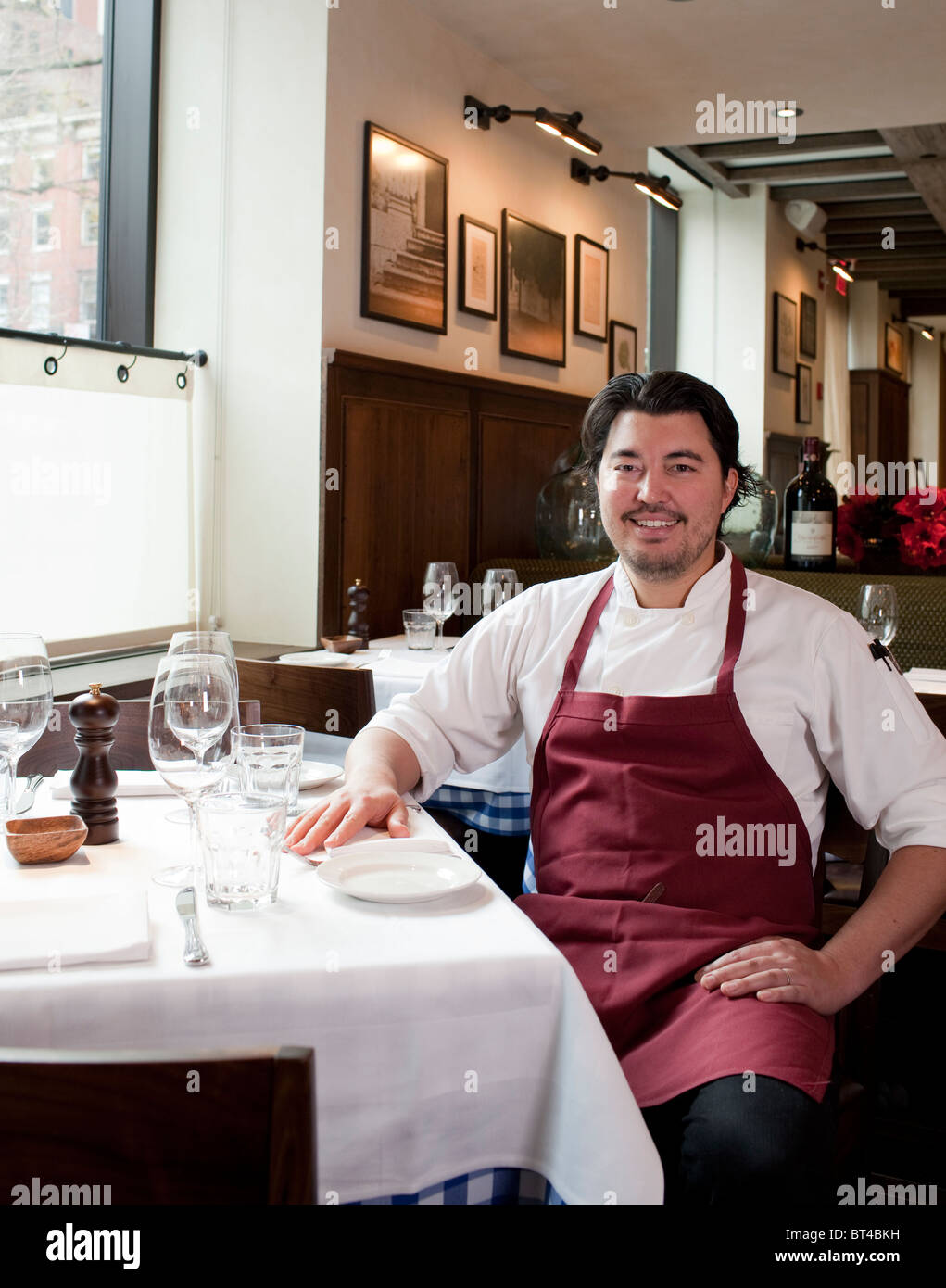 Portrait of Chef Nick Anderer at Maialino Restaurant - Stock Image