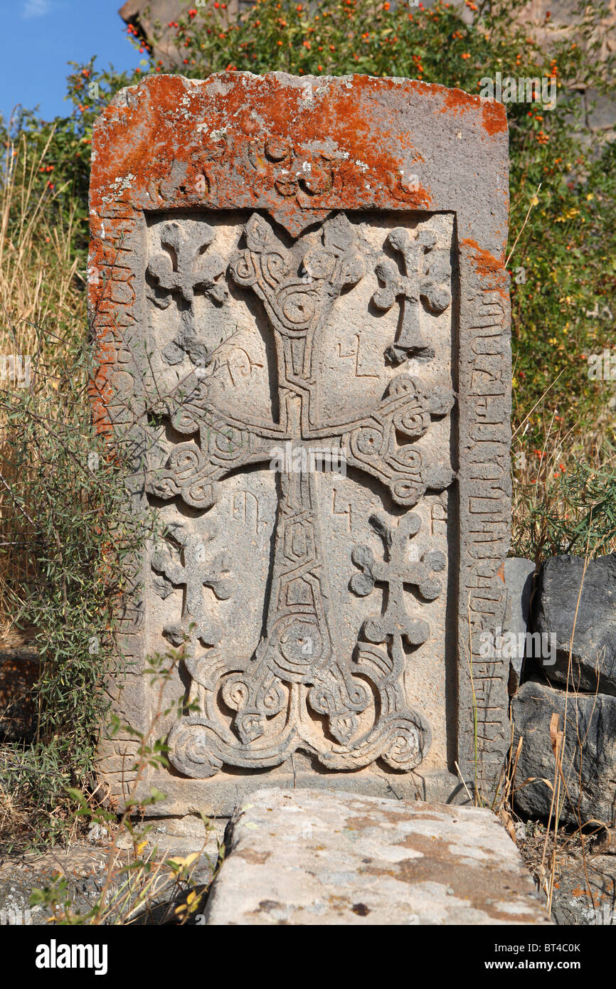 Armenian cross stone - Stock Image