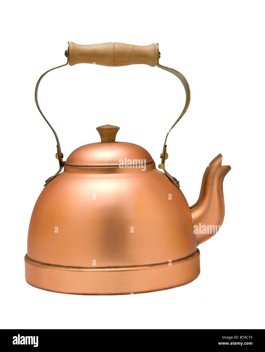 Copper tea kettle - Stock Image