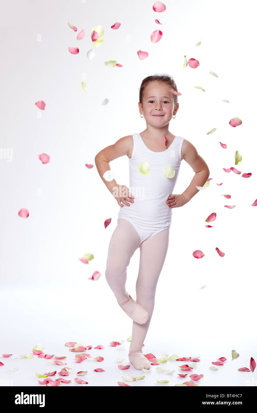 Young ballerina dancing - Stock Image