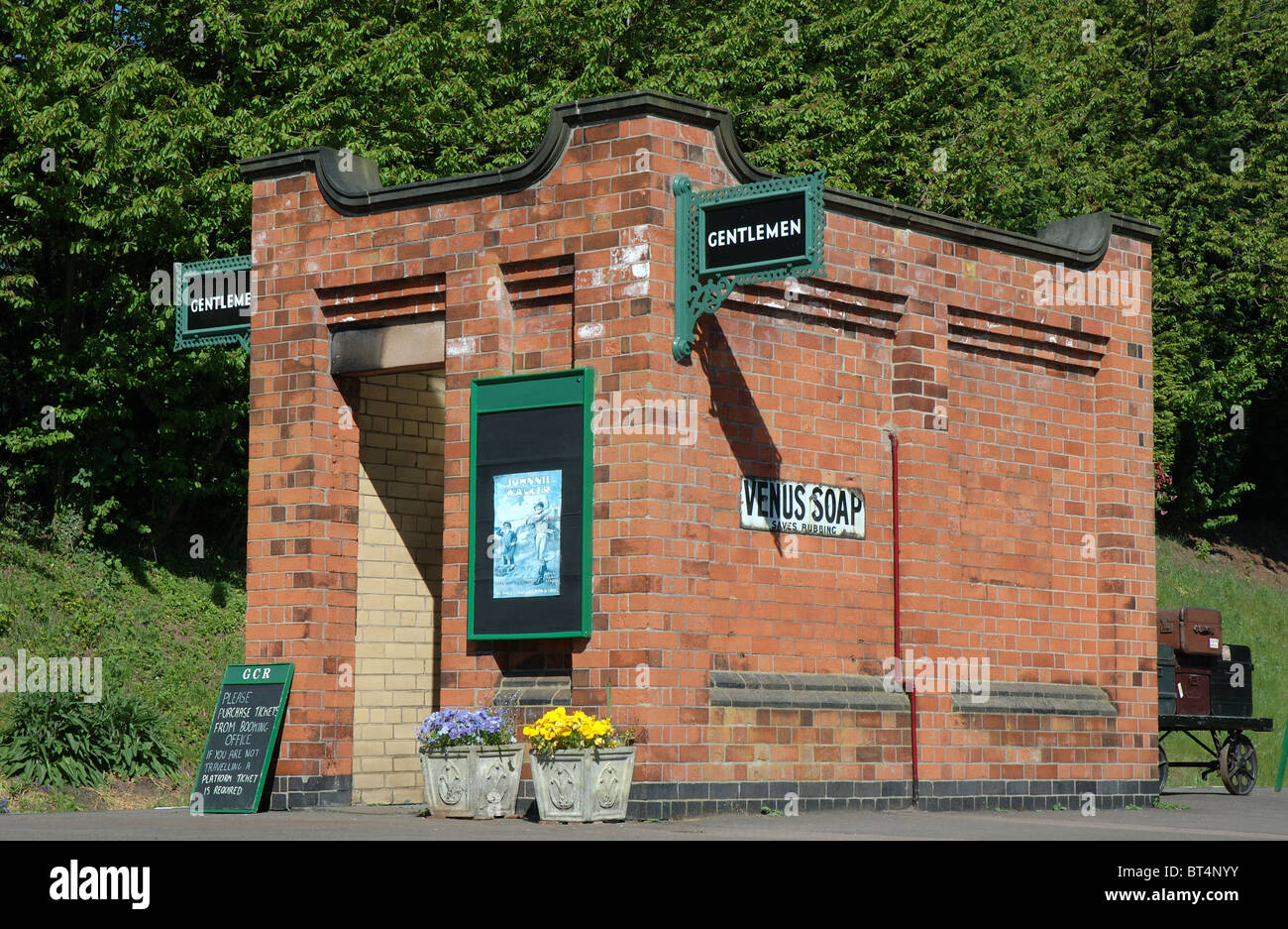 Gents toilets, Rothley station, Great Central Railway, Leicestershire, England, UK - Stock Image