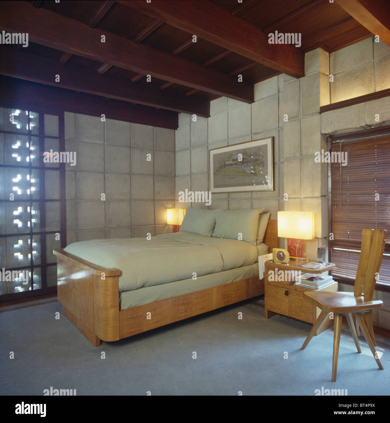 Mid Century Modern Bedroom High Resolution Stock Photography And Images Alamy