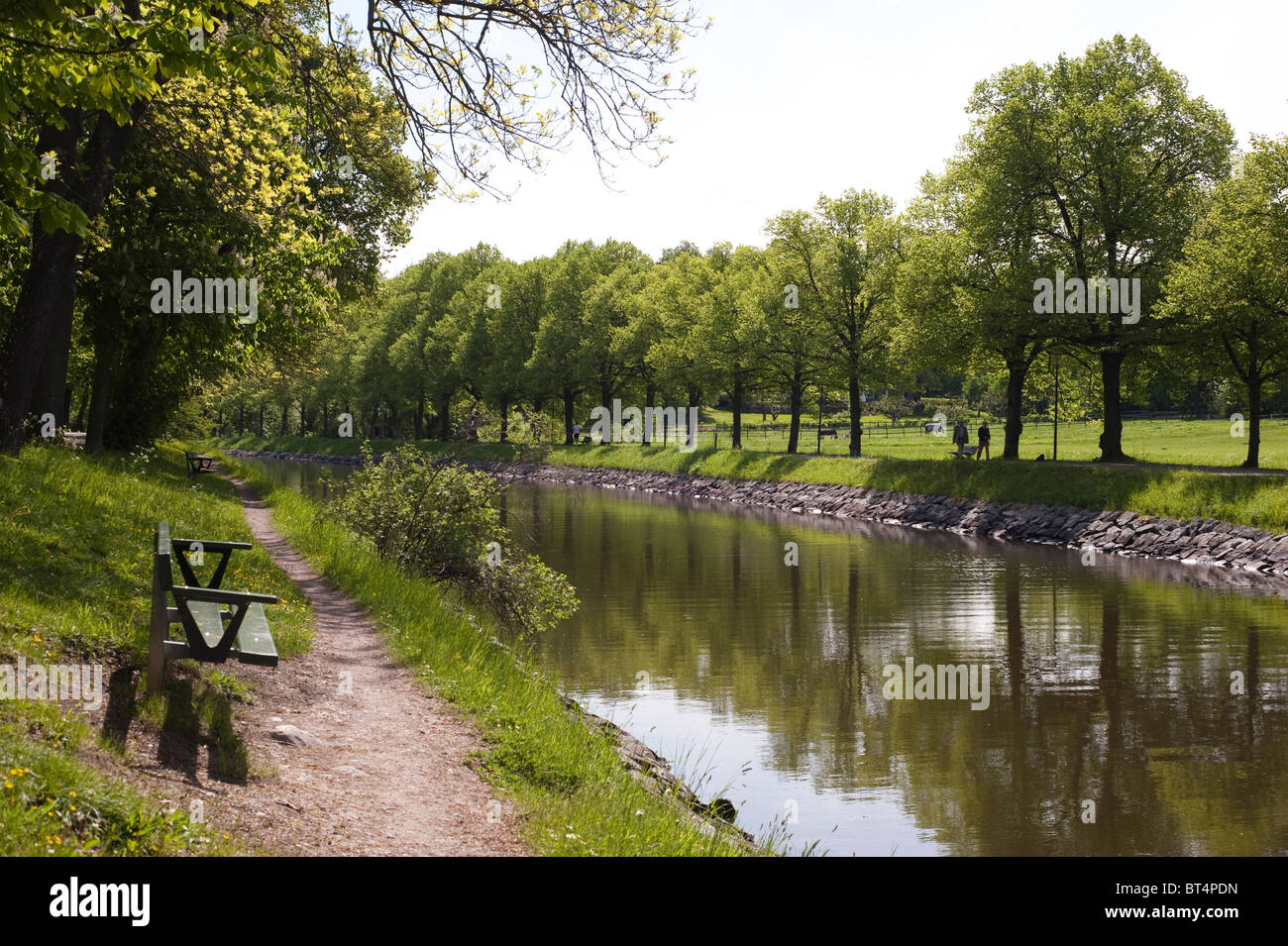 Canal through Djurgården in Stockholm - Stock Image