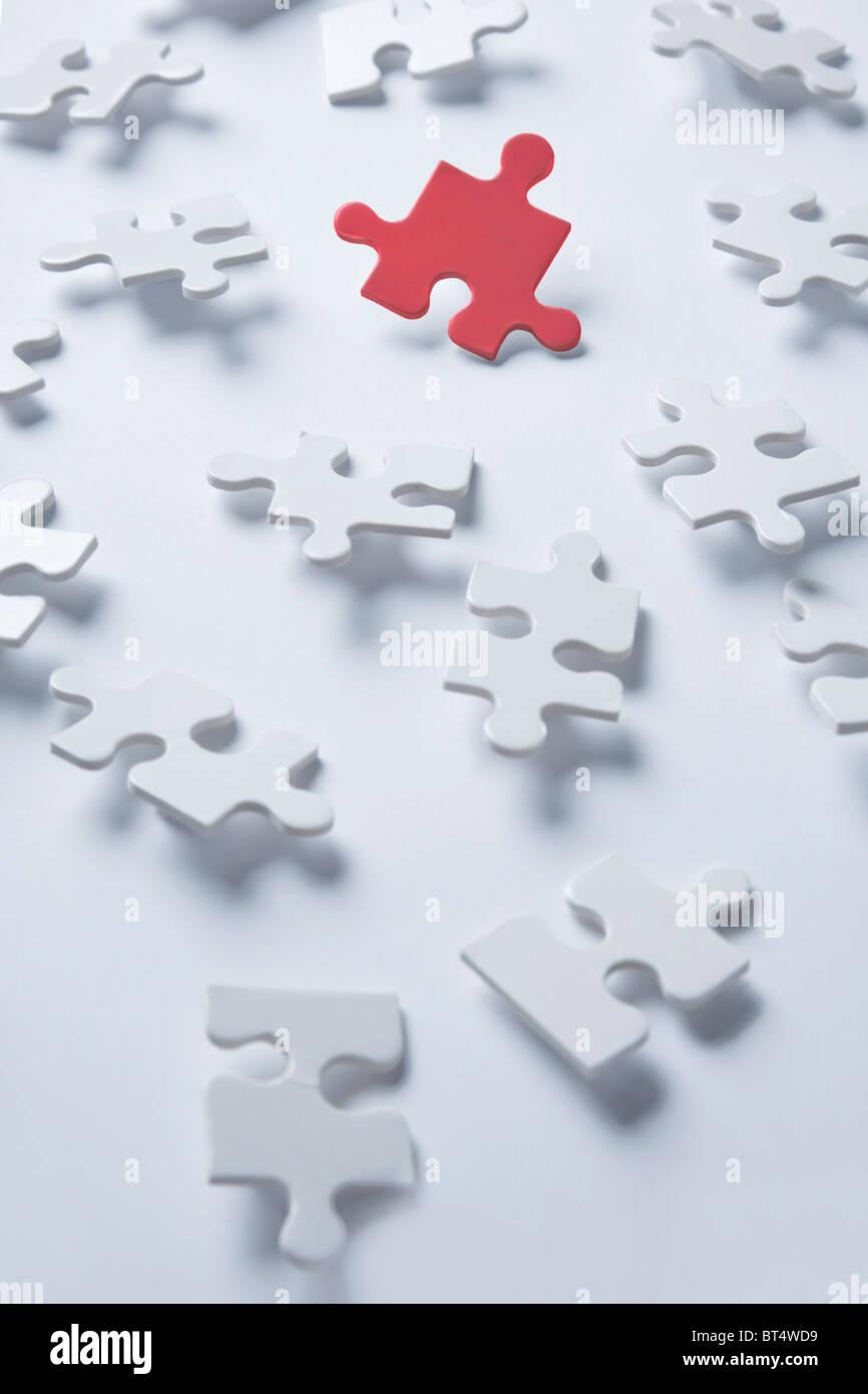 Jigsaw piece concept shot - Stock Image
