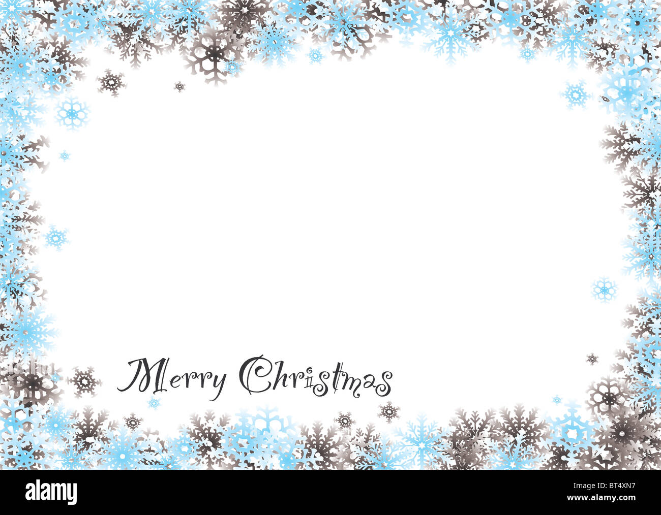 White Christmas Snow Background.Modern Snow White Christmas Background With Flakes Border