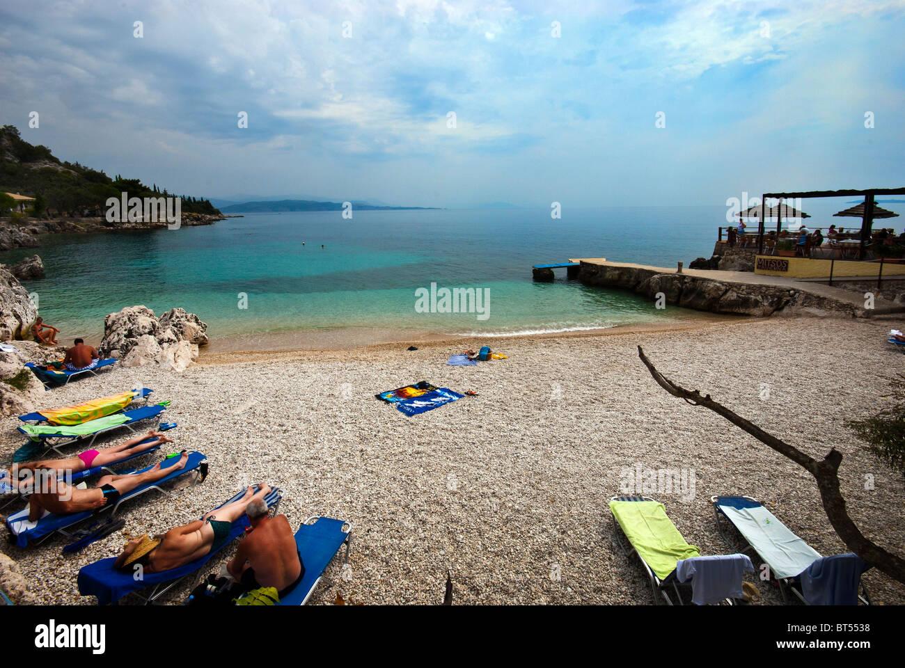 Nisaki Beach, Corfu, Ionian Islands Greece. - Stock Image