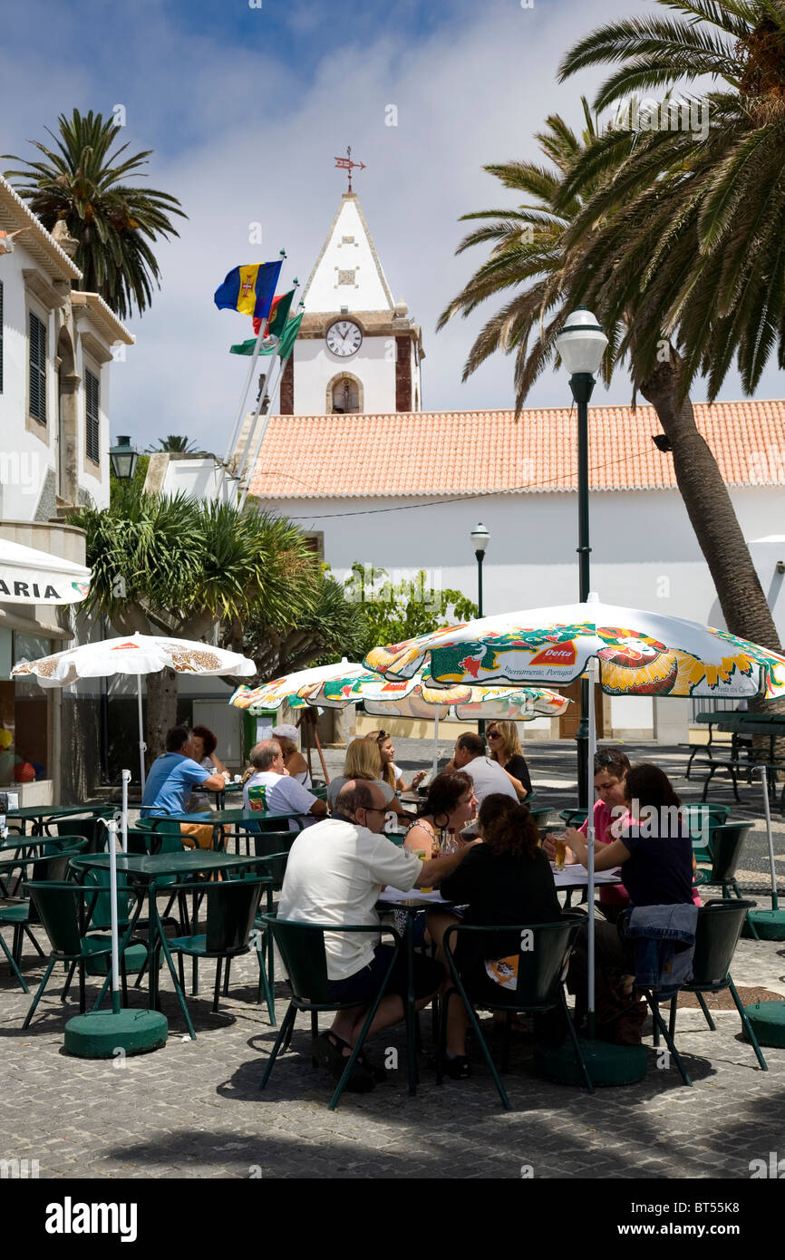 Porto Santo - Vila Baleira Town Square - Stock Image