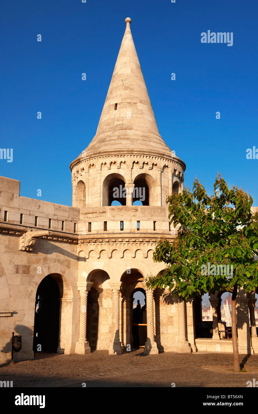 Fisherman's Bastion - Castle District, Budapest, Hungary Stock Photo