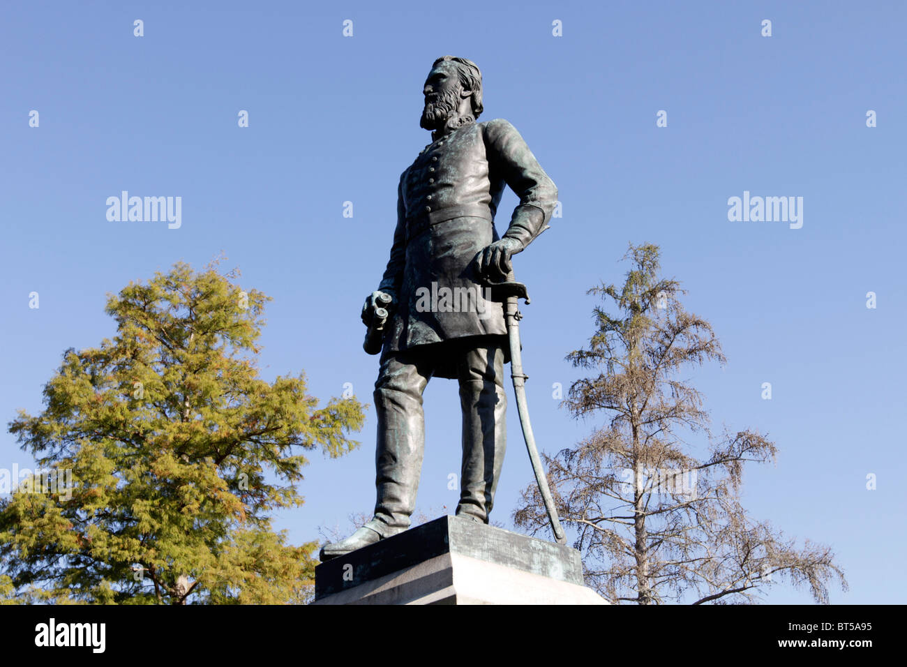 Statue of Thomas Jonathan Jackson (1824–63) American Confederate general, known as Stonewall Jackson, Lexington - Stock Image