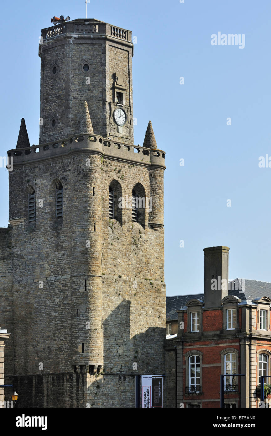 The Belfry at Boulogne-sur-Mer, France - Stock Image