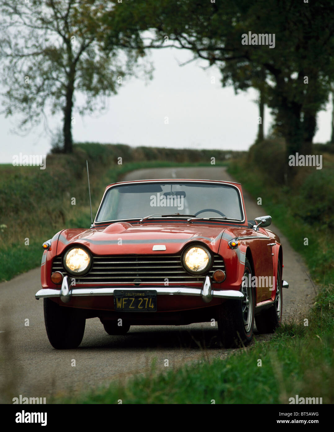 Triumph TR 250 from 1967-8, left hand drive, originally registered in the USA - Stock Image