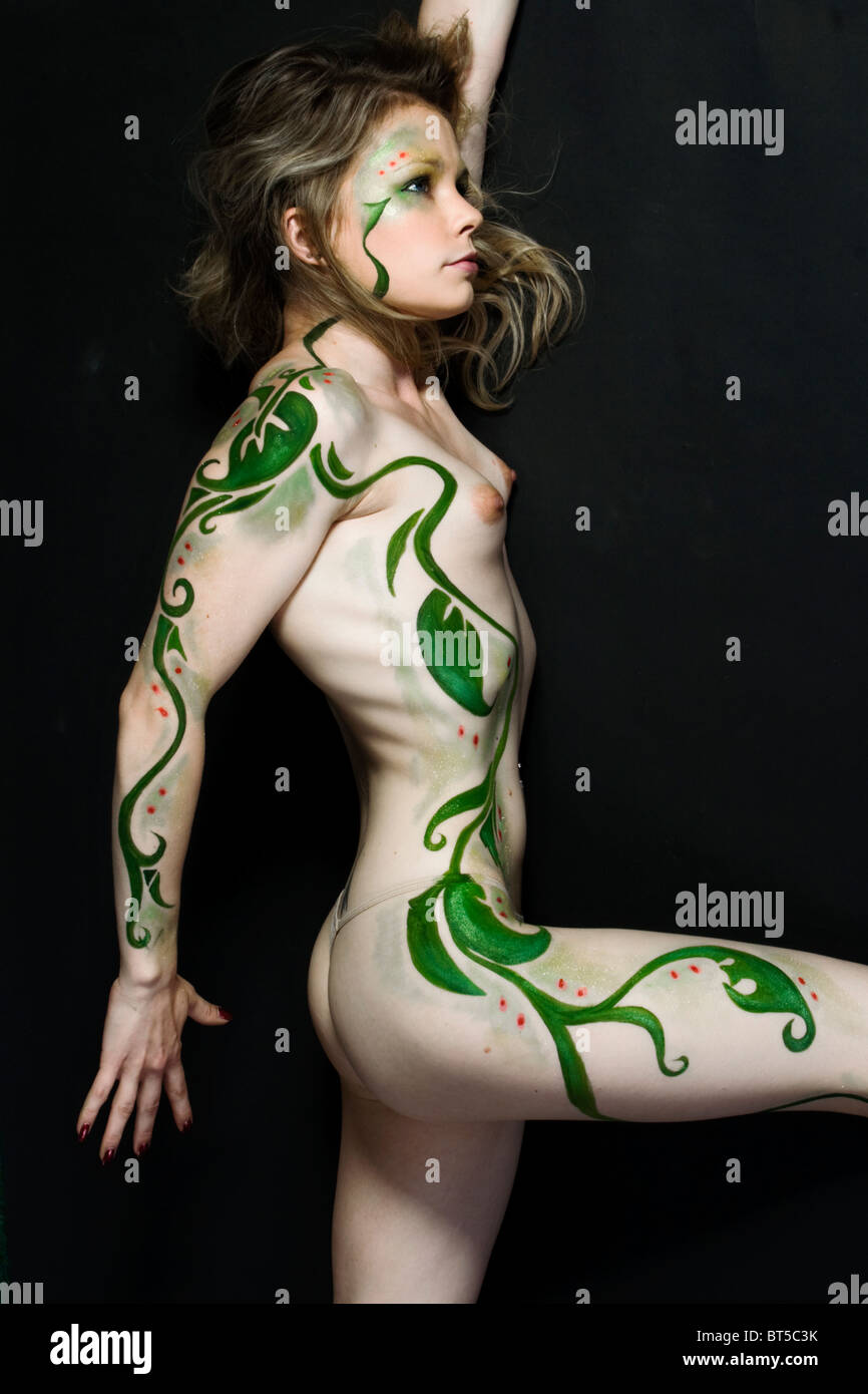 Young Teen Body Paint
