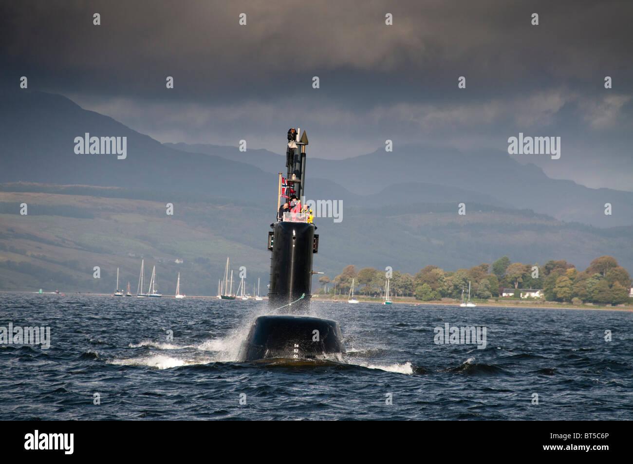 Submarine Ula of the Norwegian Navy - Stock Image