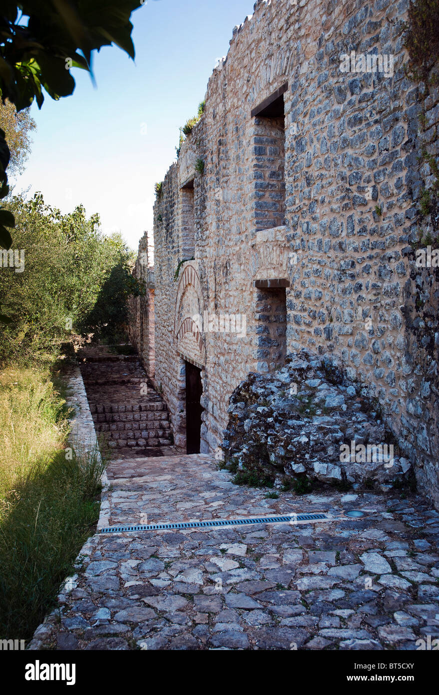 Interior of Castle at Kassiopi, Corfu, Ionian Islands Greece. - Stock Image