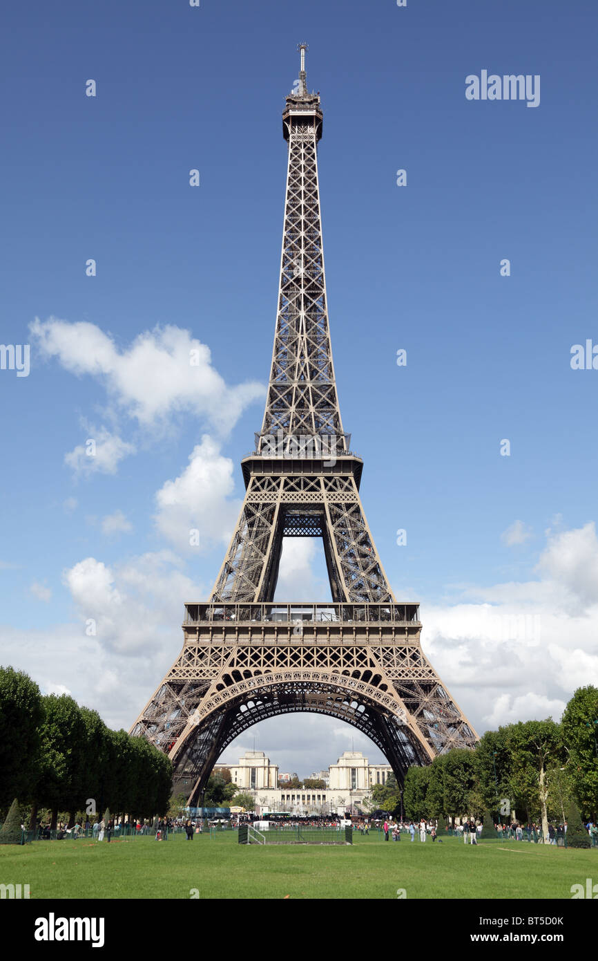 Eiffel Tower in Paris, France - Stock Image