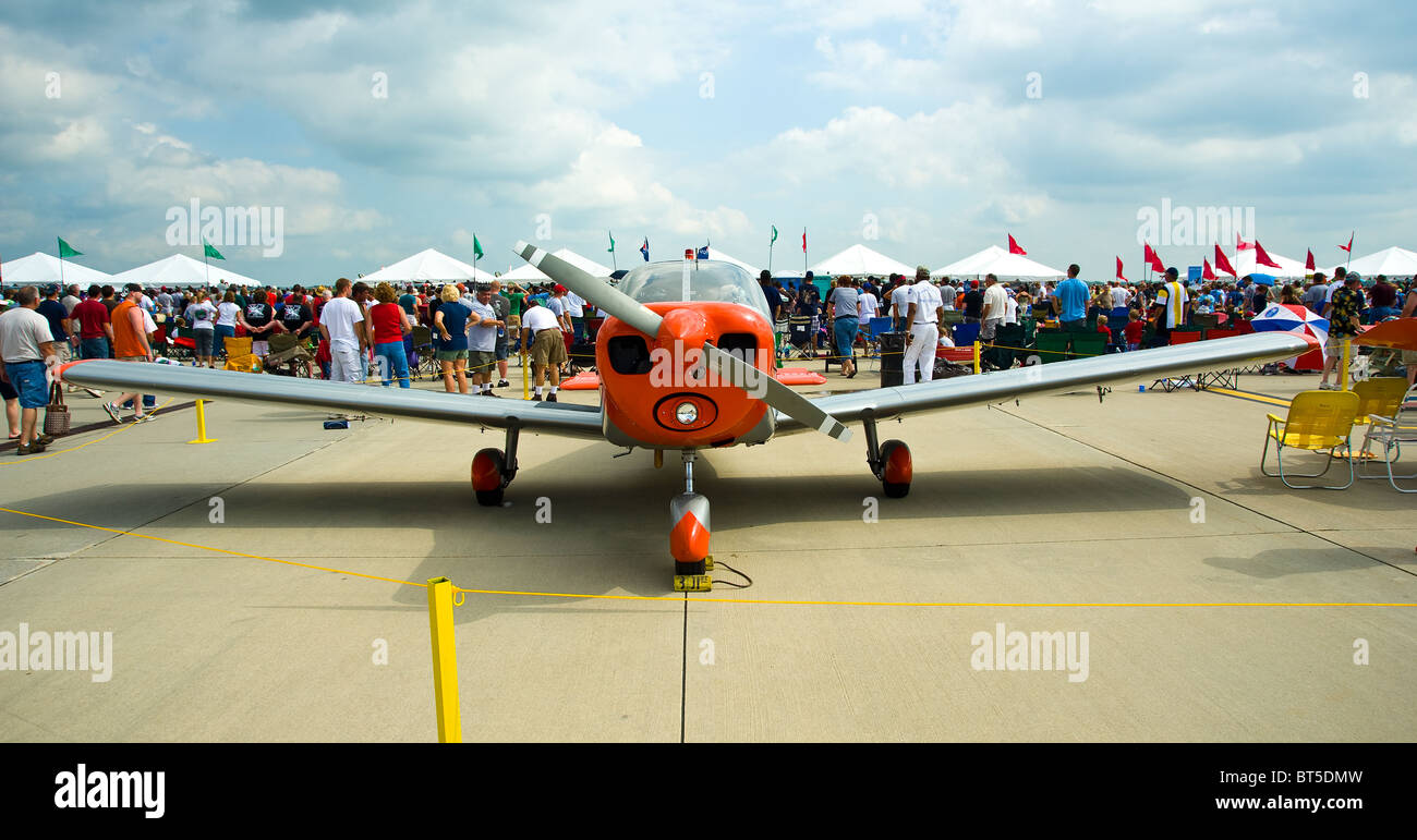 T-6 Texan T6 single engine turboprop build by the Raytheon Aircraft company, used by US Air force for basic pilot - Stock Image