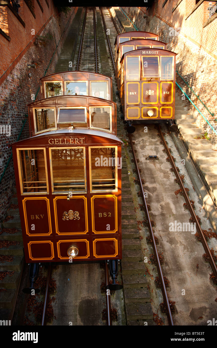 Funicular Railway - Castle District - Budapest, Hungary - Stock Image