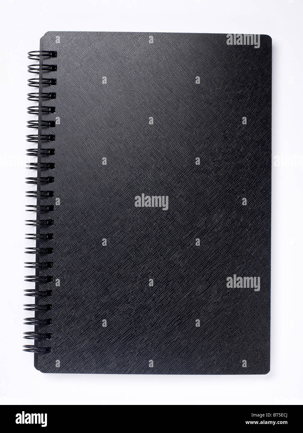 Hard Cover Book pages diary ledger - Stock Image