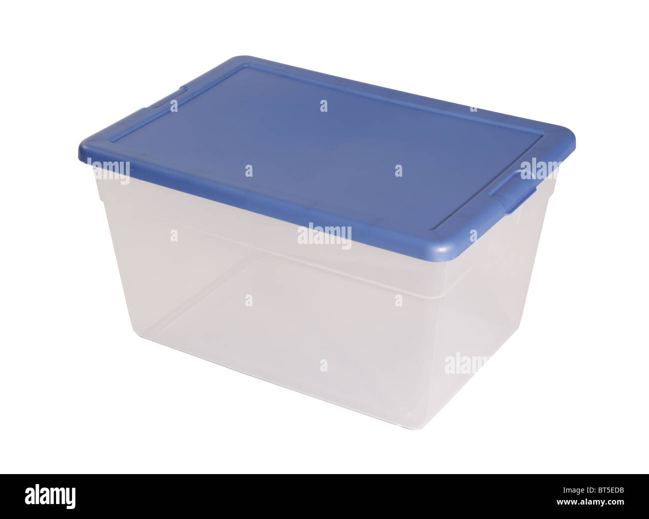 Plastic container elevated view - Stock Image