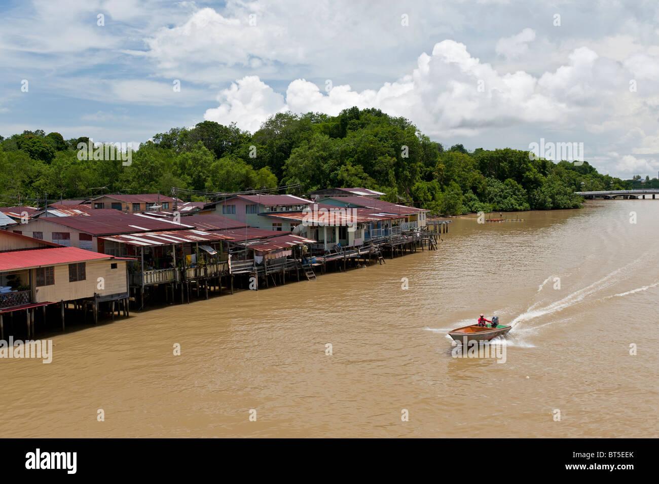 Kampong Ayer Water Village in Bandar Seri Begawan, Brunei - Stock Image