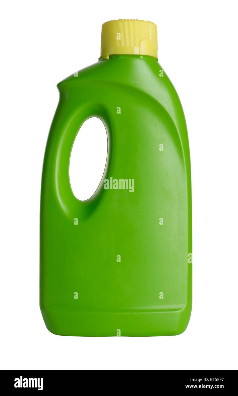 Green plastic bottle - Stock Image