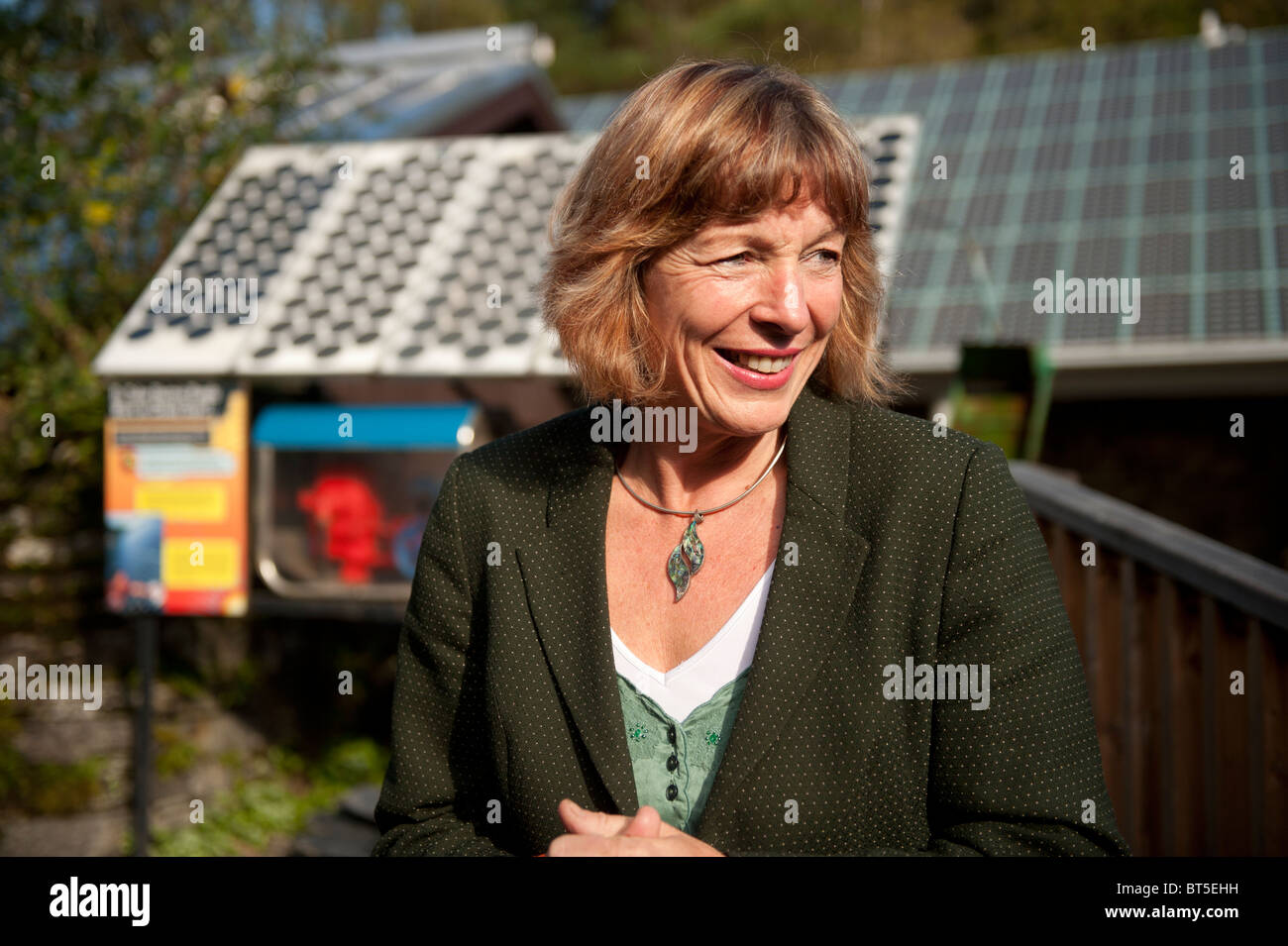 Welsh assembly government environment minister Jane Davidson at the Centre for Alternative Technology, Wales UK - Stock Image