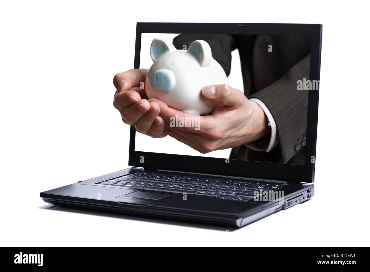 Online banking - Stock Image