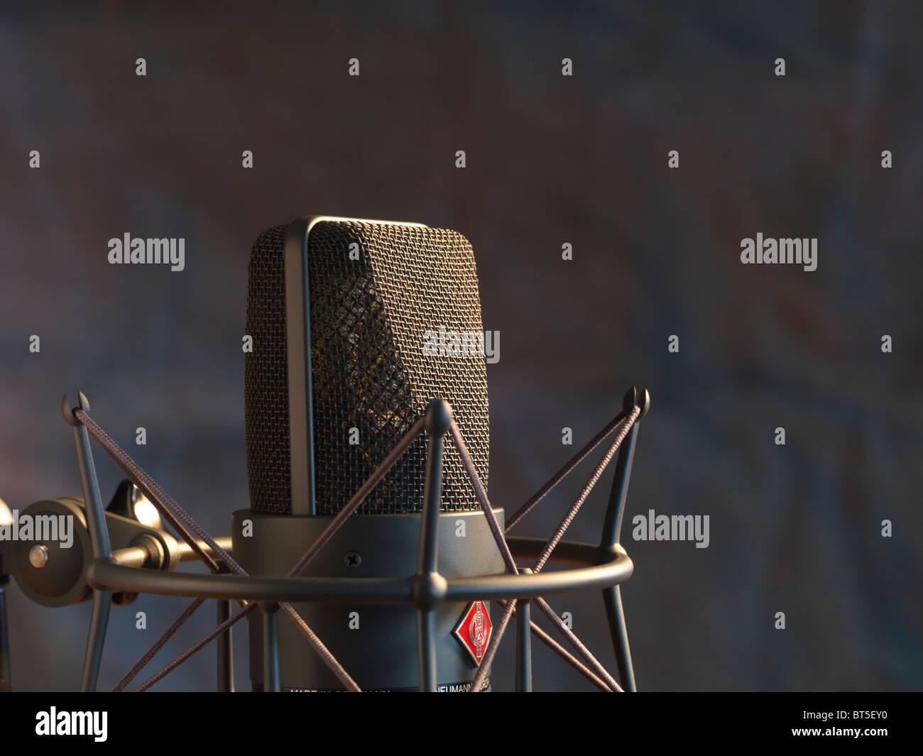 Neuman studio microphone LTM 103 - Stock Image
