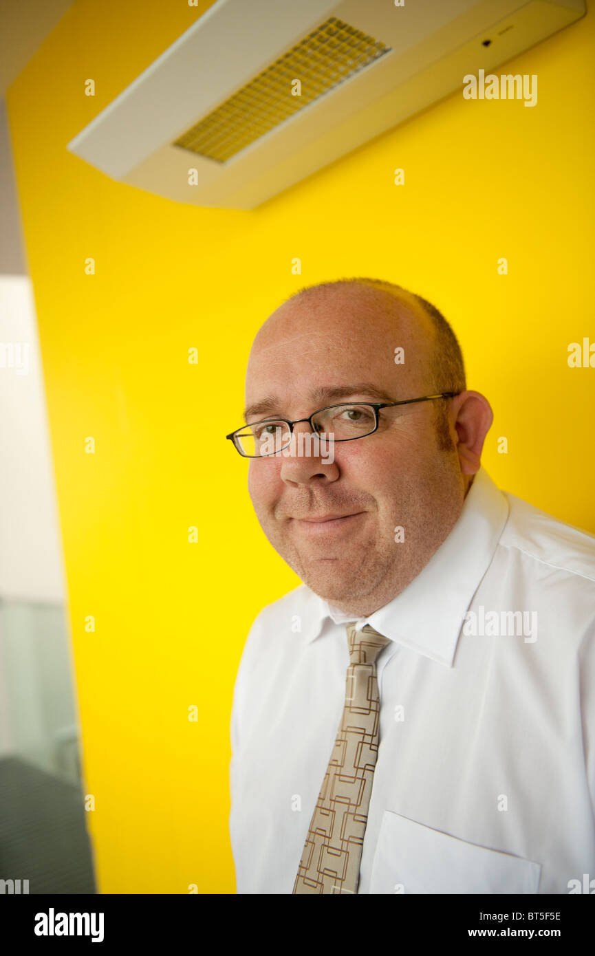 JAMIE MEDHURST, author of the book 'A History of Independent Television in Wales', - Stock Image