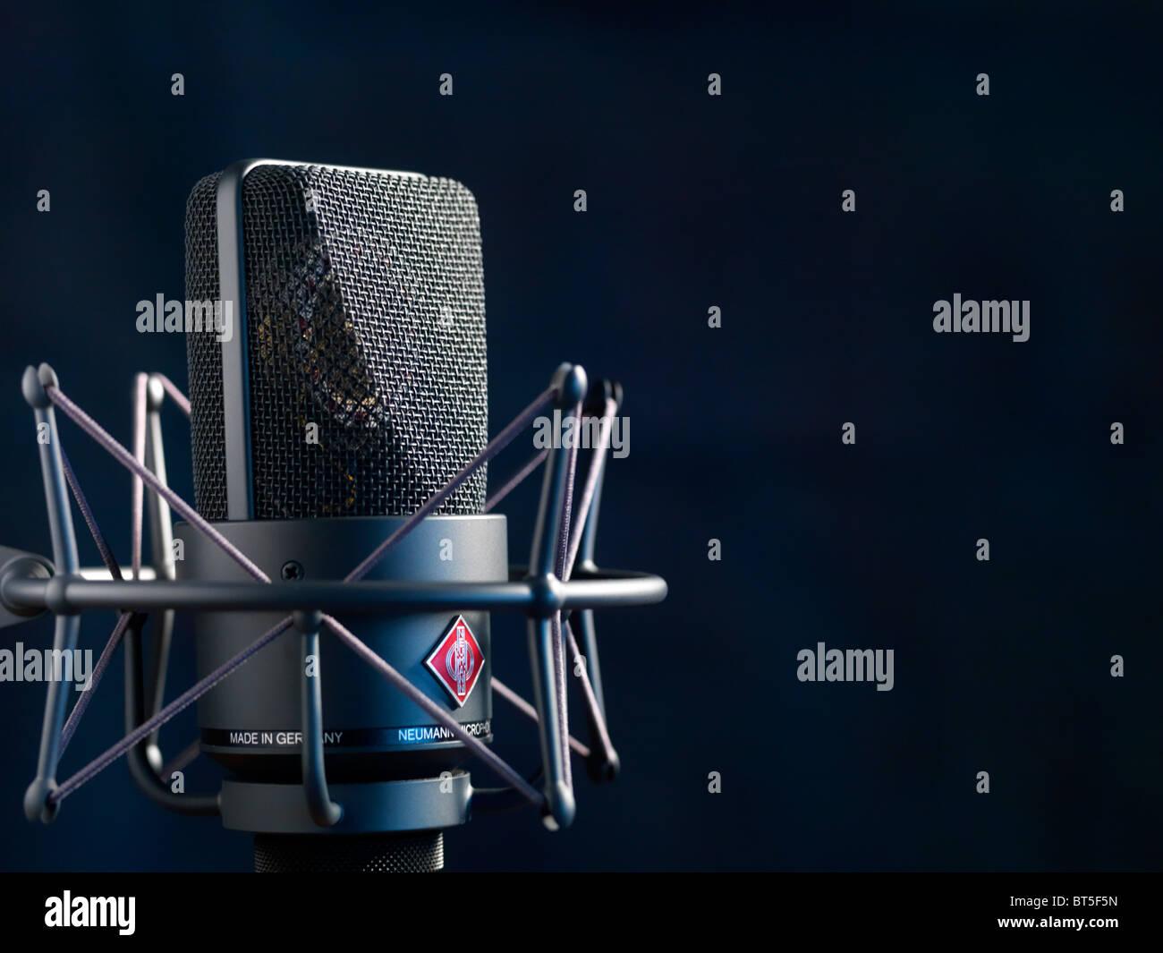Photo of the Neuman studio microphone LTM 103 - Stock Image